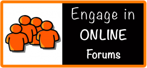 engage in online forums